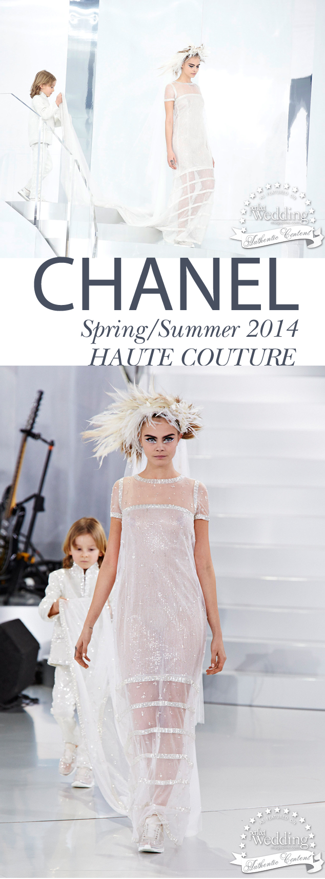 Chanel Spring Summer 2014 Haute Couture, Perfect Wedding magazine, Chanel Bride