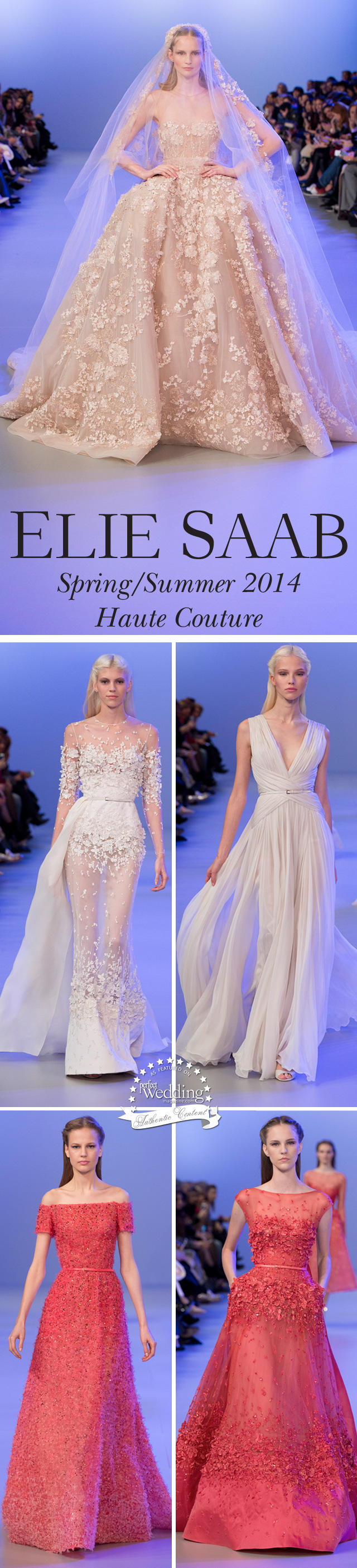 Elie Saab Spring Summer 2014 Haute Couture, Perfect Wedding magazine, Wedding gowns