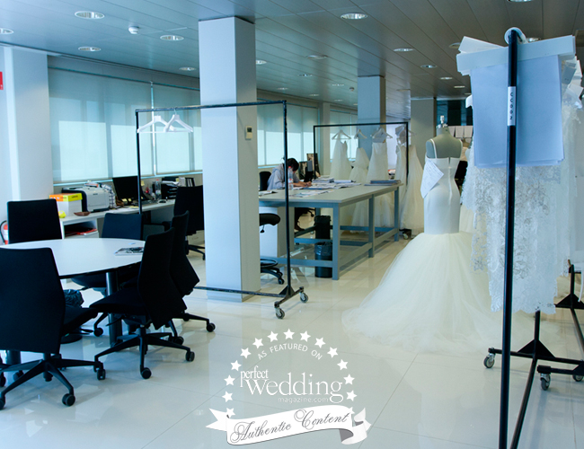 Wedding dress designing at Pronovias