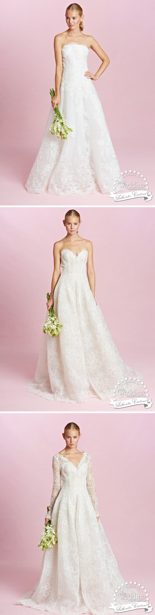 Oscar de la Renta, Oscar de la Renta Fall 2015 Bridal Collection, Fall Bridal Trends, Perfect Wedding Magazine, Perfect Wedding Magazine Blog