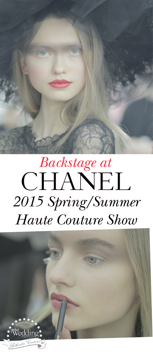 Chanel, Chanel Makeup, Chanel spring Summer 2015 Haute Couture Collection, Perfect Wedding Magazine, Spring Makeup Bridal Trends
