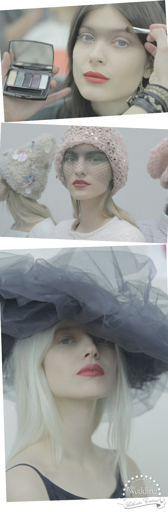 Chanel, Chanel Makeup, Chanel SpringSummer 2015 Haute Couture collection, Perfect Wedding Magazine, Spring Makeup Bridal trends