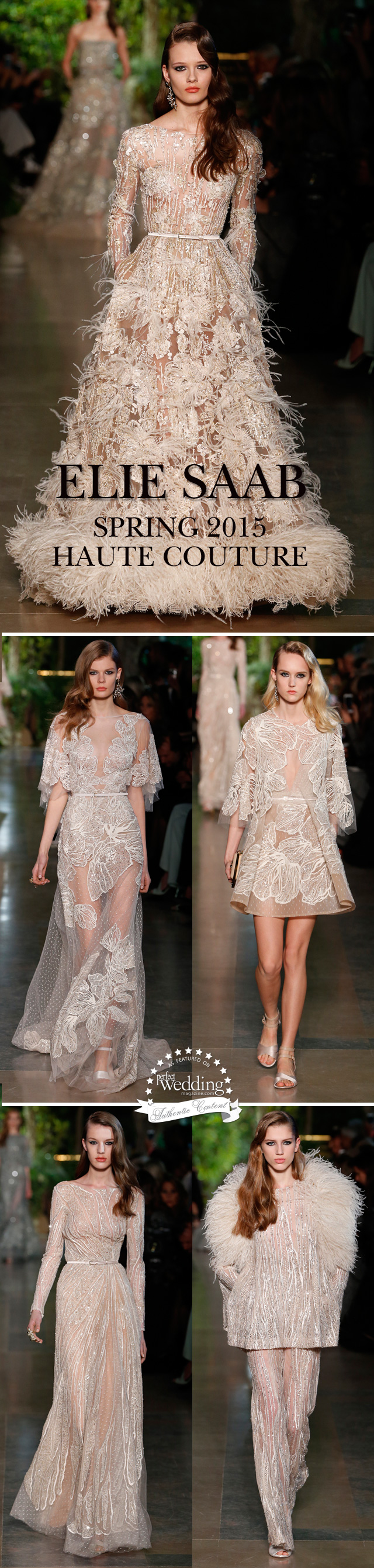 Elie Saab, Elie Saab Spring Haute Couture, Haute Couture, Wedding Gowns, White Wedding Gowns, Perfect Wedding Magazine, Fashion, Wedding gowns