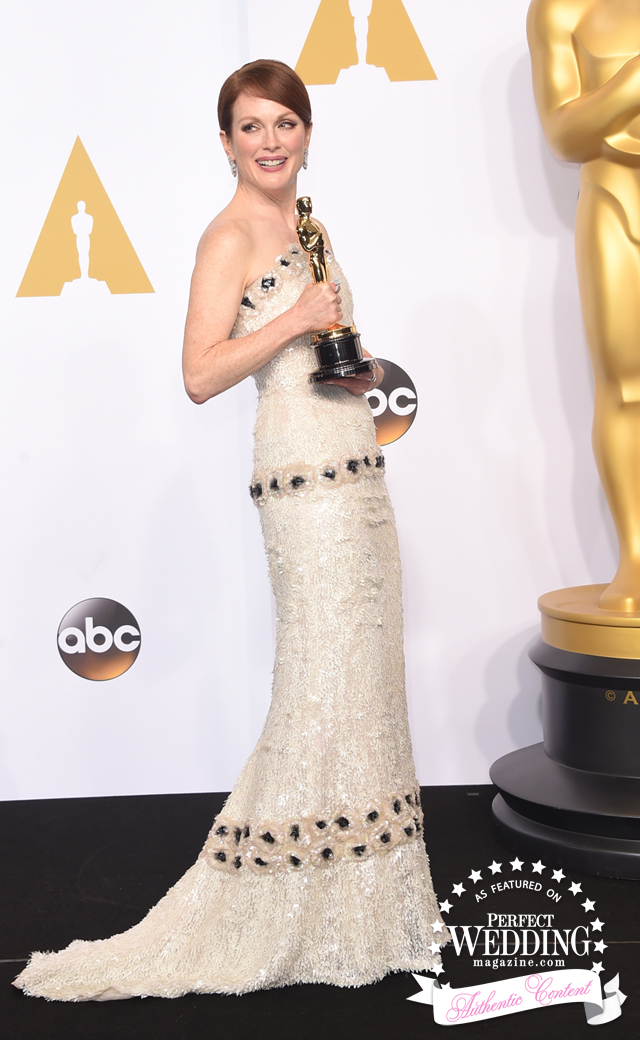 Julianne Moore, Chanel, Chanel Haute Couture, Red Carpet at Oscar's, Perfect Wedding Magazine