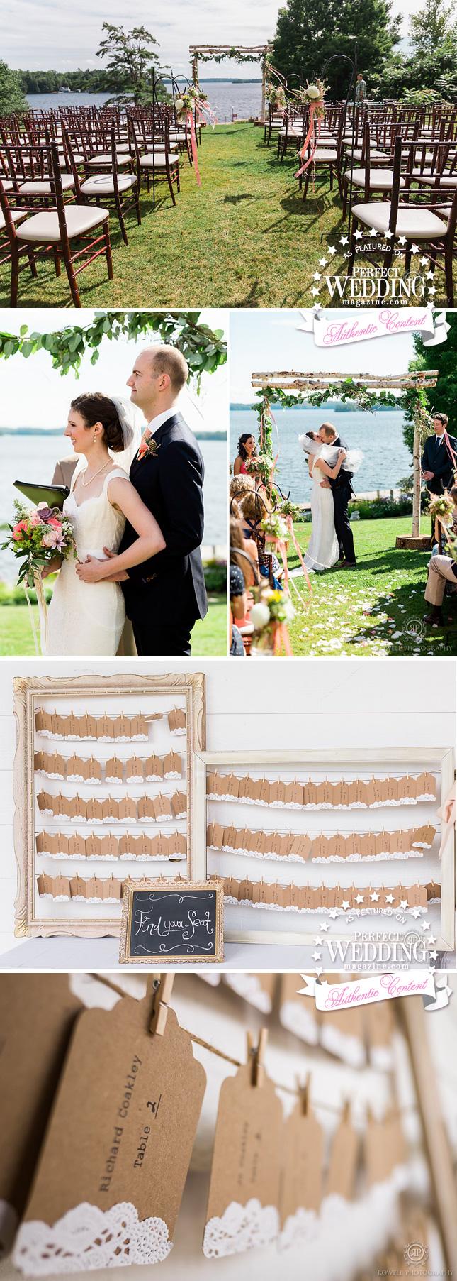 Canadian Summer Weddings, Summer weddings, SUMMER WEDDING MUSKOKA,Muskoka Weddings, Rowell Photo, Cottage Wedding, Wedding Decor, Bridal Flowers, Perfect Wedding Magazine, Perfect Wedding Blog