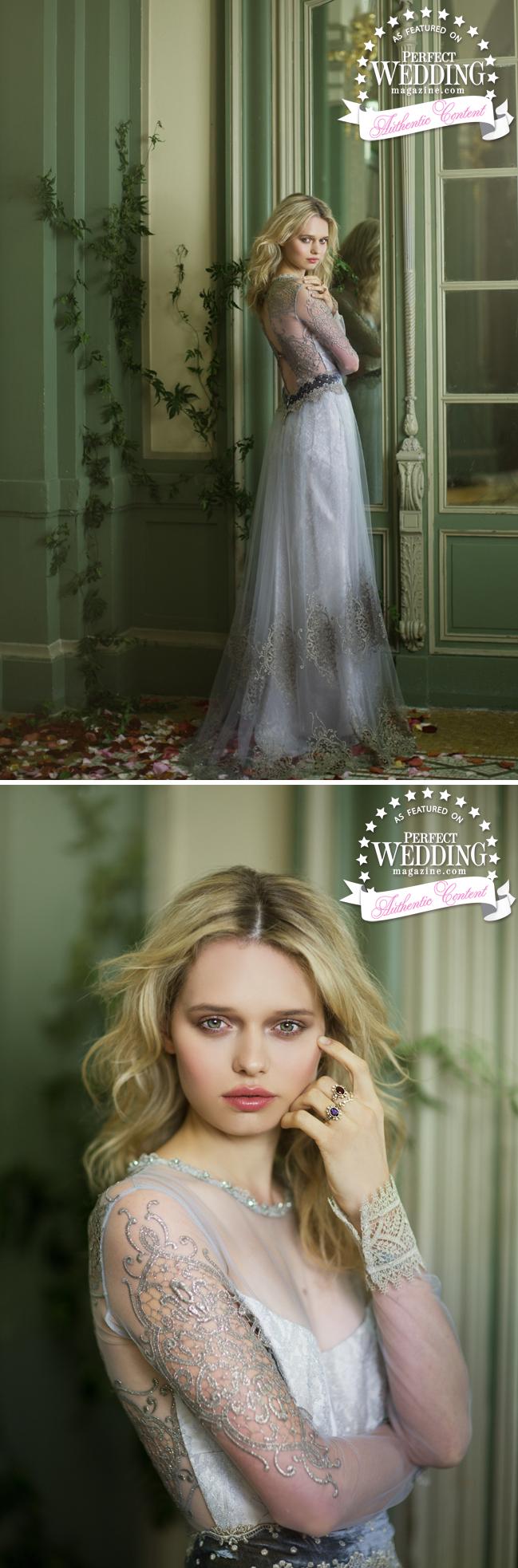 Claire Pettibone, The Gilded Age, Perfect Wedding Magazine, Bridal fashion, Bridal Fall 2016, Bridal Trends