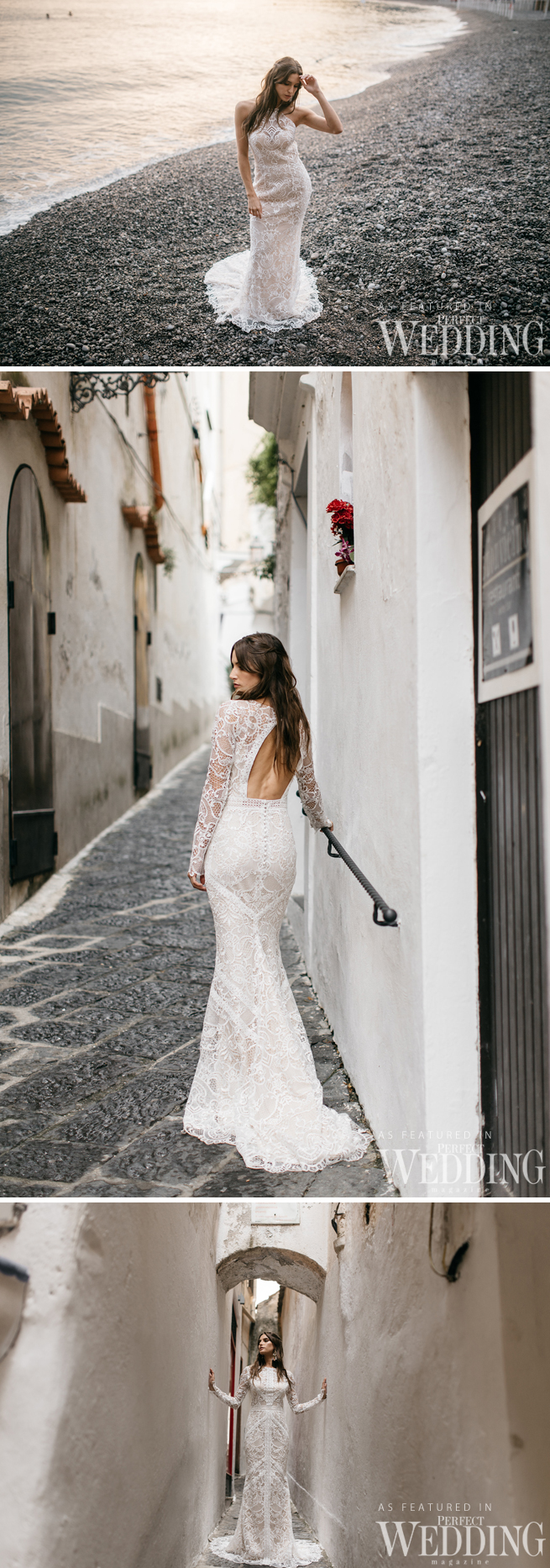 Tara Lauren Bridal, destination wedding Dresses, Tara Lauren, Perfect Wedding Magazine, Spring 2017, Spring 2017 Bridal, Amalfi Coast, Italy