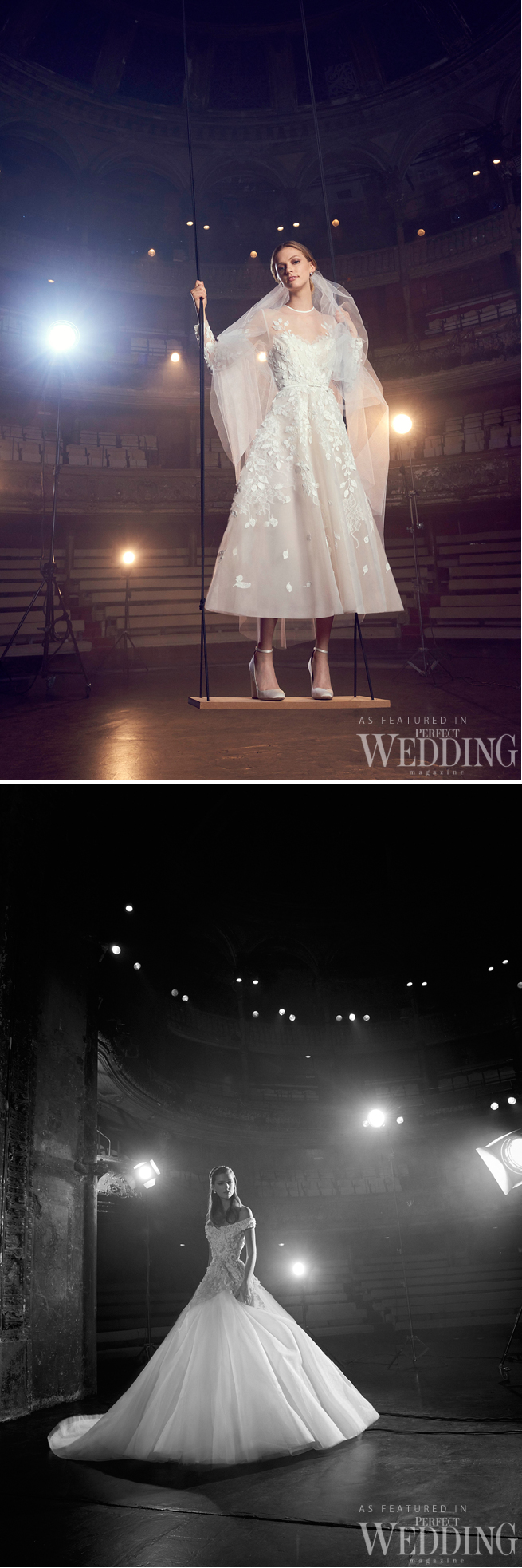 Elie Saab, Elie Saab Bridal, Elie Saab Wedding Gowns, Elie Saab Bridal Fall Winter 2018, Perfect Wedding Magazine, Theater of Light, Bridal Trends 2018, Perfect Wedding Magazine, Couture Bride