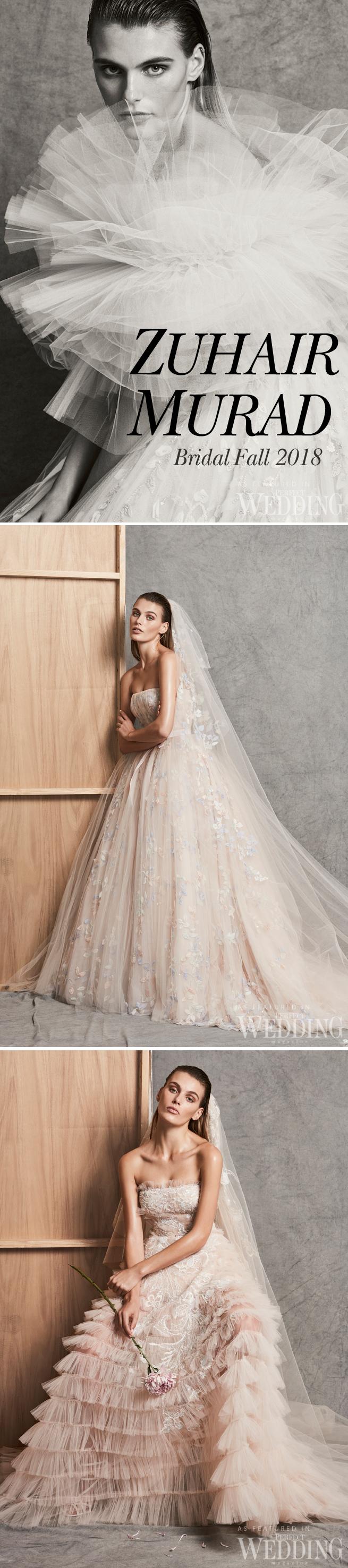 Zuhair Murad, Zuhair Murad Bridal 2018 Fall Collection, Zuhair Murad Bridal Gowns, Zuhair Murad Bride, Fall 2018 bridal trends, Perfect Wedding Magazine, Perfect Wedding Blog, Bridal Trends, Pink Wedding Gowns, Blush Wedding Gowns