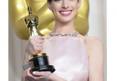 Anne Hathaway Dazzles in Tiffany Blue Book Collection Diamonds at the 85th Academy Awards