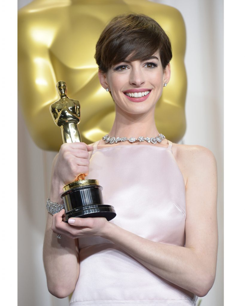 Anne Hathaway at the 85th Academy Awards