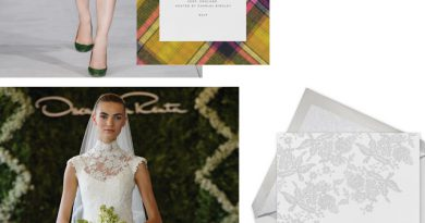 Oscar de la Renta Wedding Stationery in Perfect Wedding Magazine