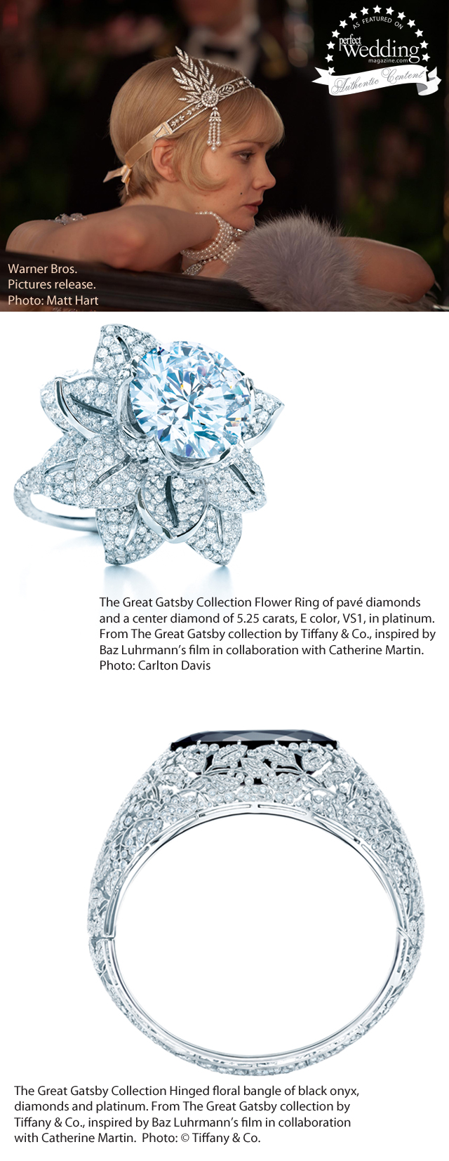 5d7612426 The Great Gatsby collection by Tiffany & Co. in perfect Wedding Magazine