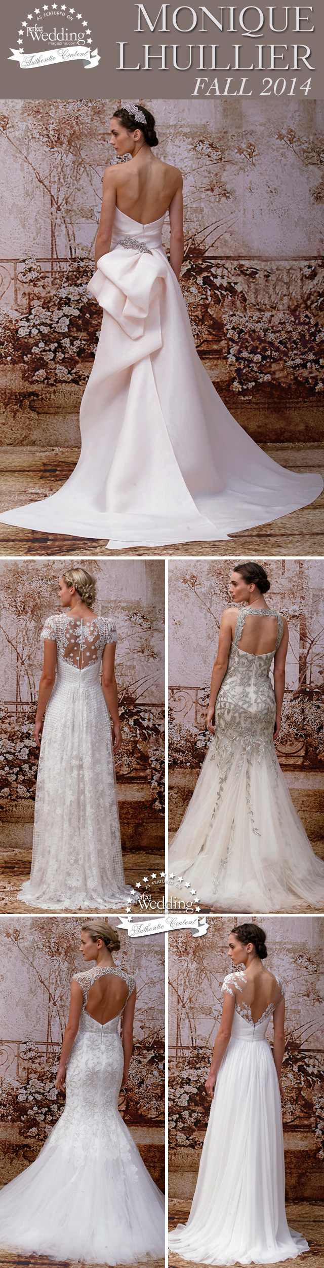 Monique Lhuillier, Fall 2014 Bridal, Fashion, Perfect Wedding magazine, Perfect Wedding, New York Bridal Fashion Week