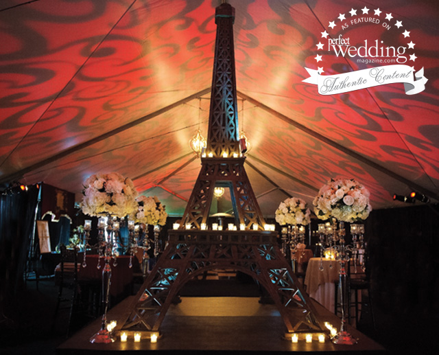 Paris theme, Wedding Décor, Perfect Wedding magazine, Fall Winter issue