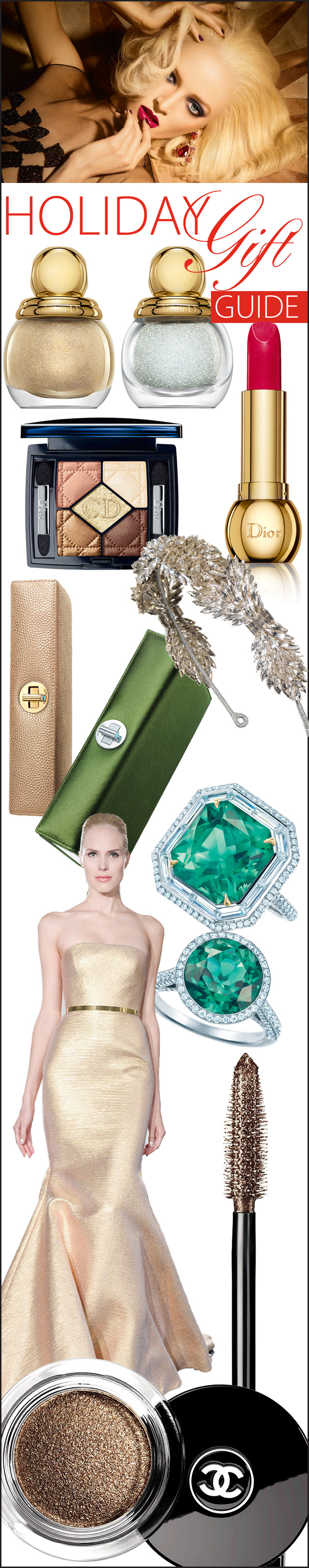 Holiday Gift Guide, Chanel, Dior, Tiffany & Co., Romona Keveza, Jenny Packham