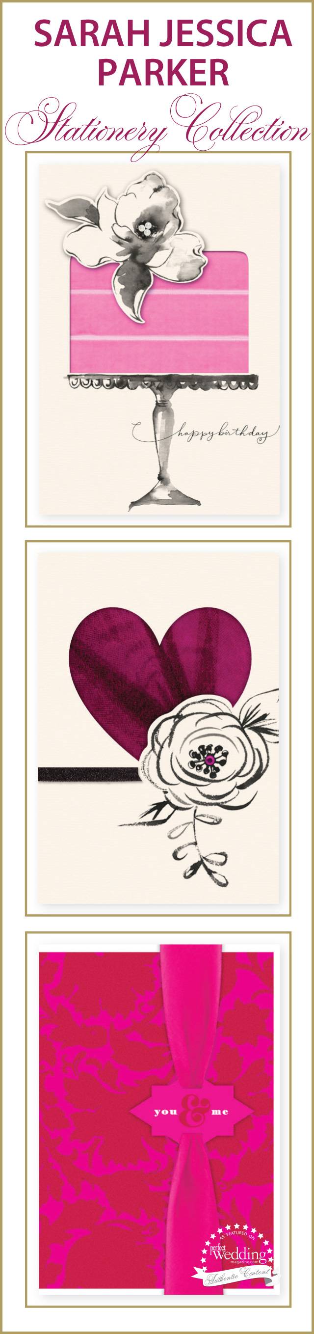 SJP Stationery collection, Hallmark, Perfect Wedding Magazine, Wedding Stationery