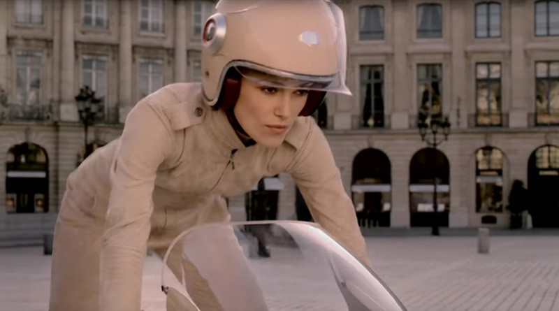Keira Knightly Paris Moto Chanel