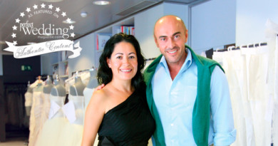 Claudia Torres and Manuel Mota at the Pronovias factory in Barcelona Spain