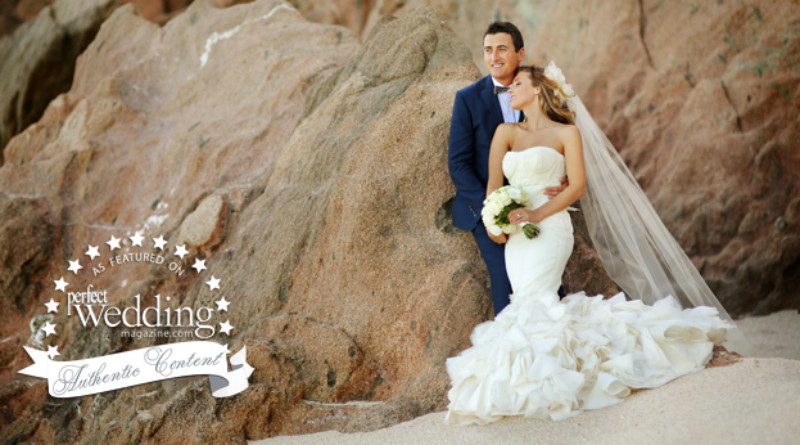 Perfect Wedding Magazine feature with Erica & Erich, photographed by ChrisPlusLynn