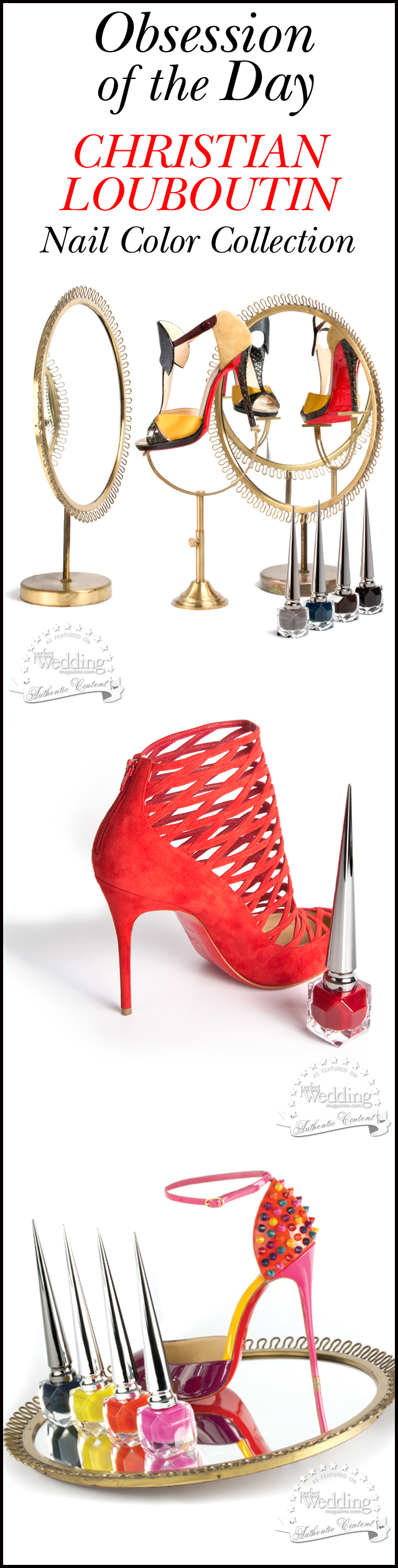 Chrisitian Louboutin, Chrisitian Louboutin Nail Color Collection, Bridal Beauty, Nail Trends, Perfect Wedding Magazine, Perfect Wedding Magazine Blog