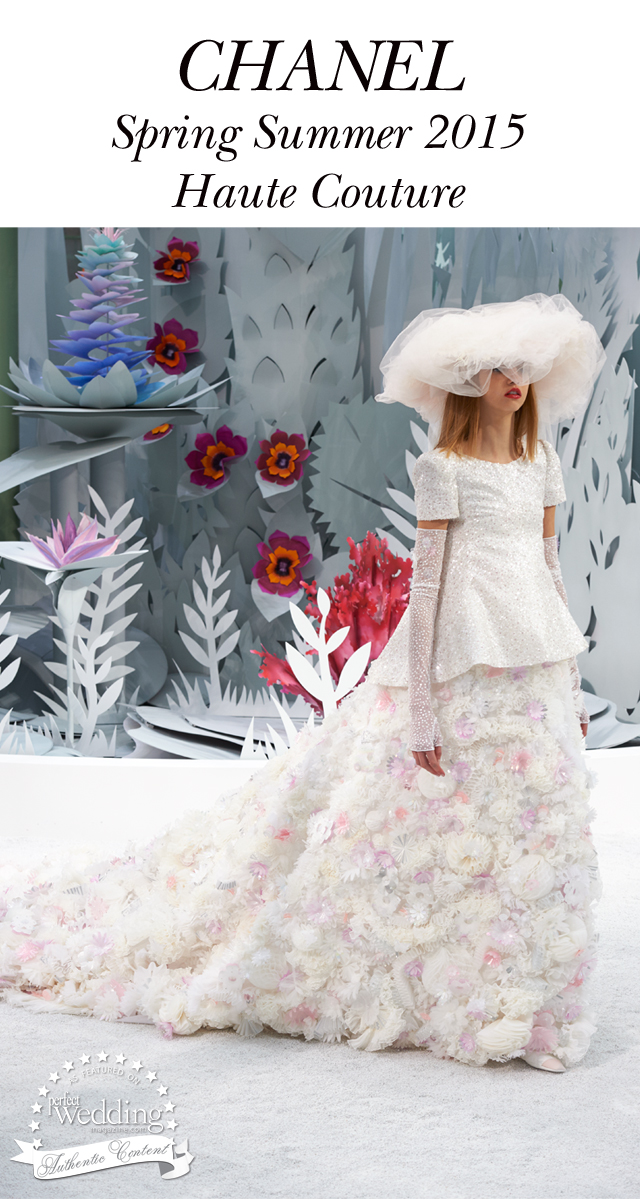 Chanel 39 S Bride Spring Summer 2015 Haute Couture Perfect Wedding