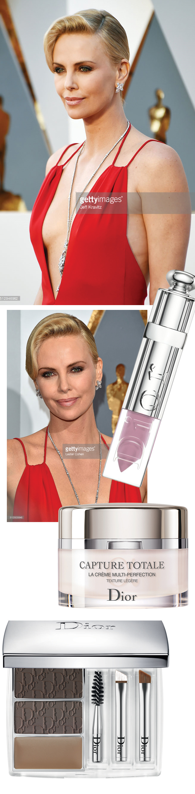 Charlize Theron, Oscars 2016, Dior Beauty, Red Carpet, Red Carpet Beauty Look, Perfect Wedding Magazine