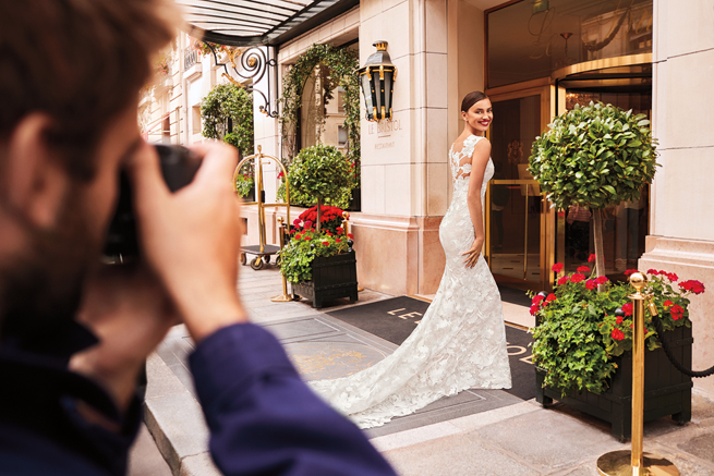 Irina Shayk behind the scenes with Pronovias