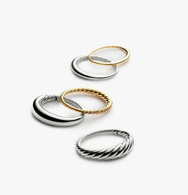 pure form bracelet gold silver David yurman