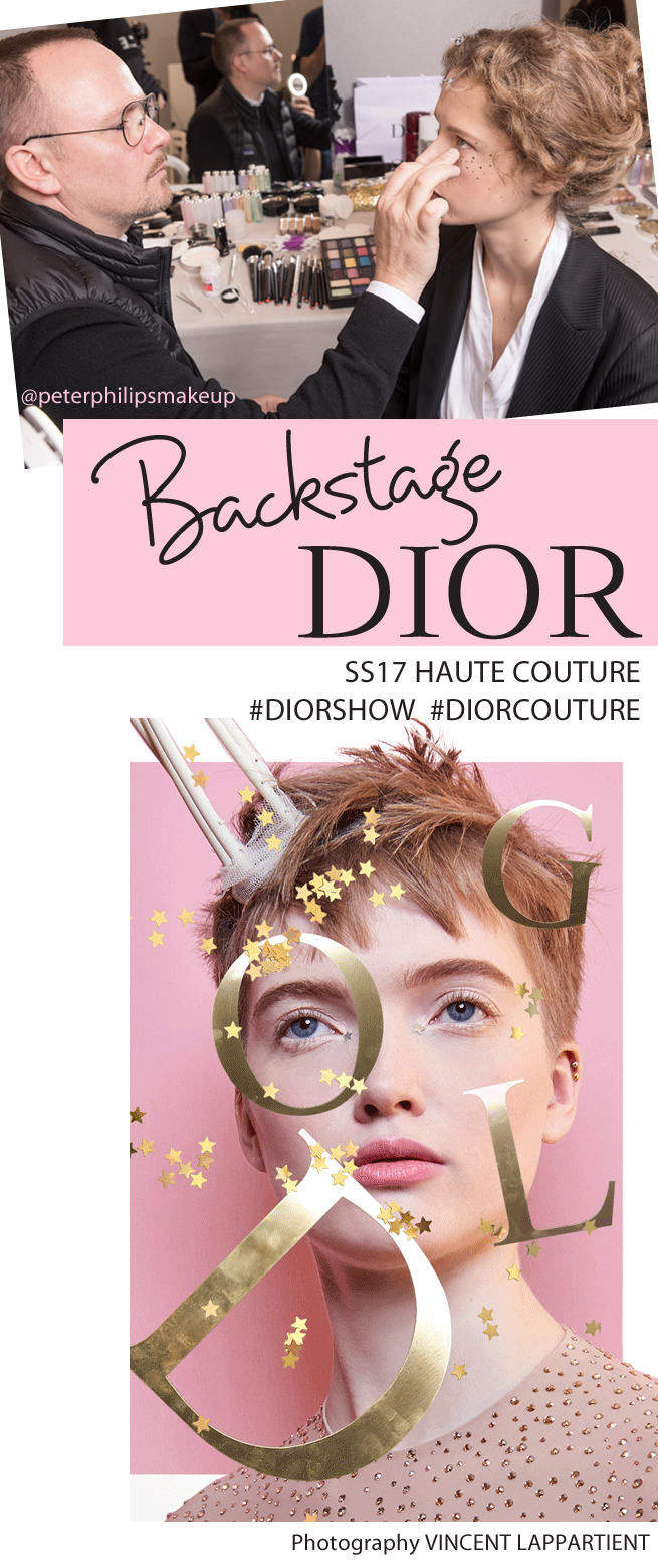 DiorShow, Haute Couture, Dior, Peter Philips, Backstage Dior, Dior Beauty, Spring Summer 2017 Beauty, Perfect Wedding Magazine, Perfect Wedding Blog