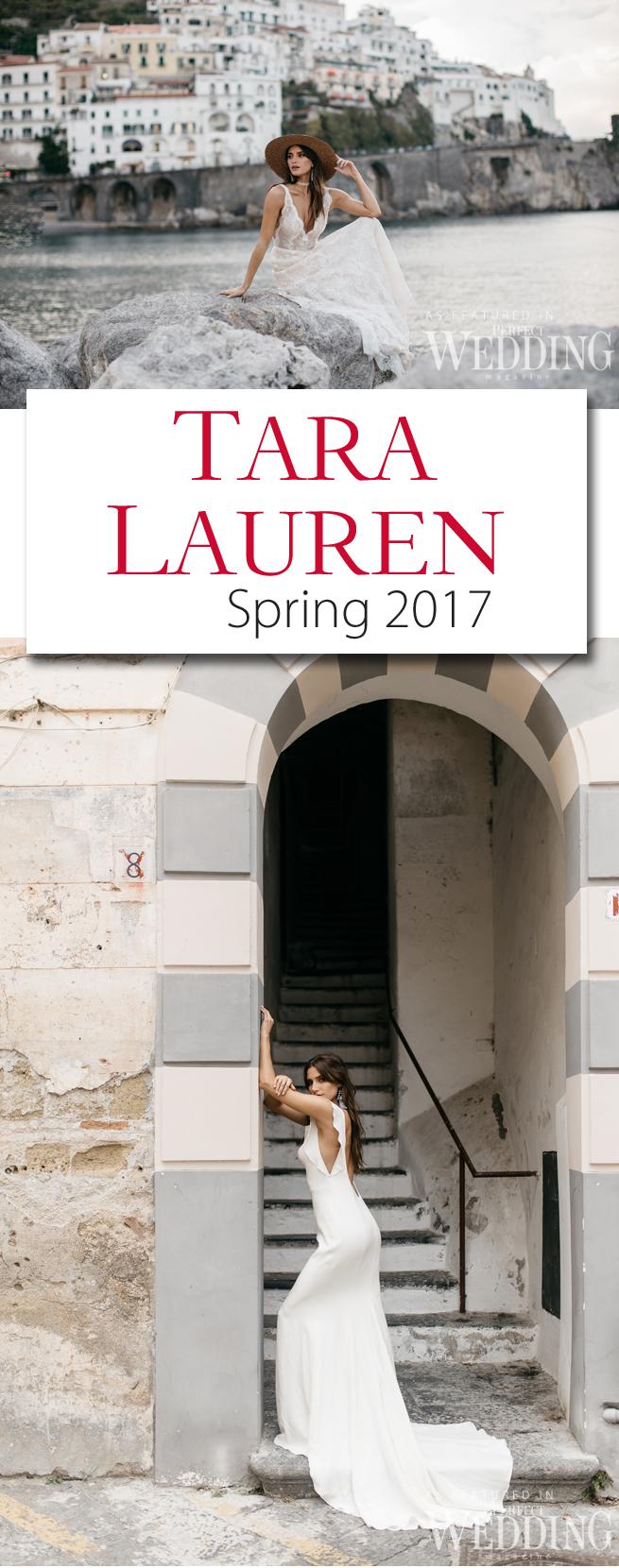 Tara Lauren Bridal, destination wedding Dresses, Tara Lauren, Perfect Wedding Magazine, Spring 2017, Spring 2017 Bridal, Amalfi Coast,