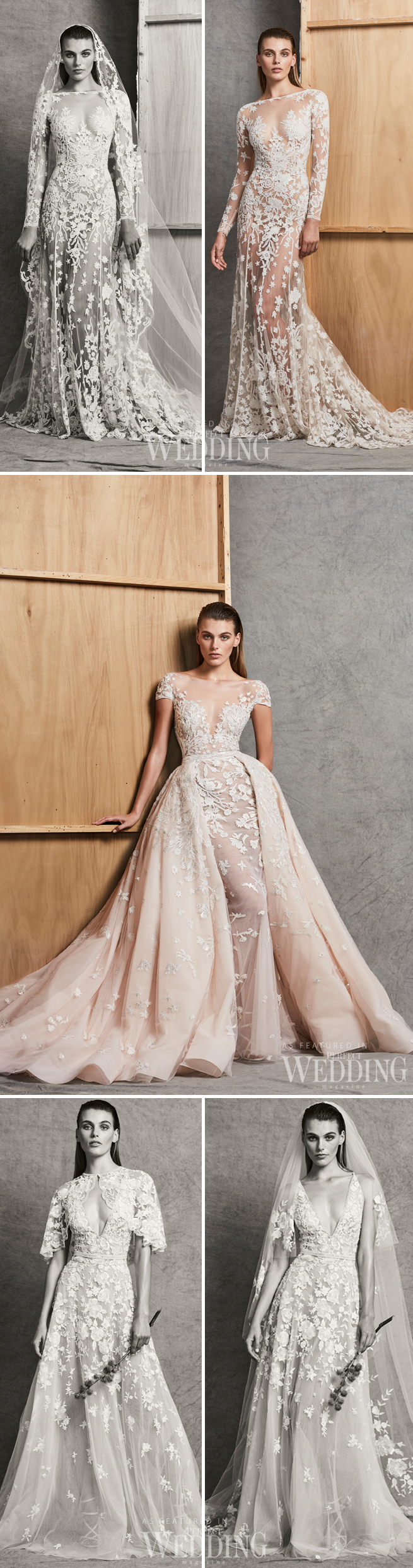 Zuhair Murad, Zuhair Murad Bridal 2018 Fall Collection, Zuhair Murad Bridal Gowns, Zuhair Murad Bride, Fall 2018 bridal trends, Perfect Wedding Magazine, Perfect Wedding Blog, Bridal Trends, Pink Wedding Gowns, Blush Wedding Gowns
