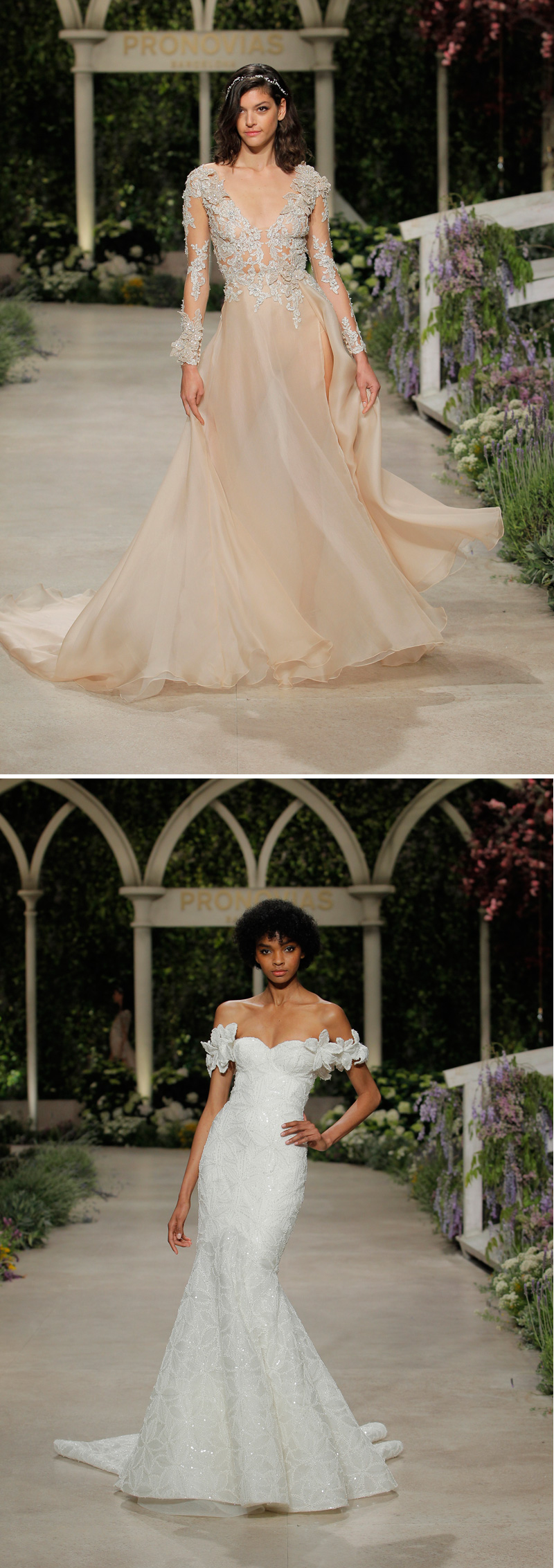 Pronovias, Atelier Pronovias, Atelier Pronovias 2019, Pronovias Fashion Show, Barcelona Bridal Week, Herve Moreau, Cindy Bruna, Romee Strijid, In Bloom, Pronovias In Bloom, Pronovias 2019, Pronovias Dress, In Bloom Pronovias, In Bloom Pronovias Collection