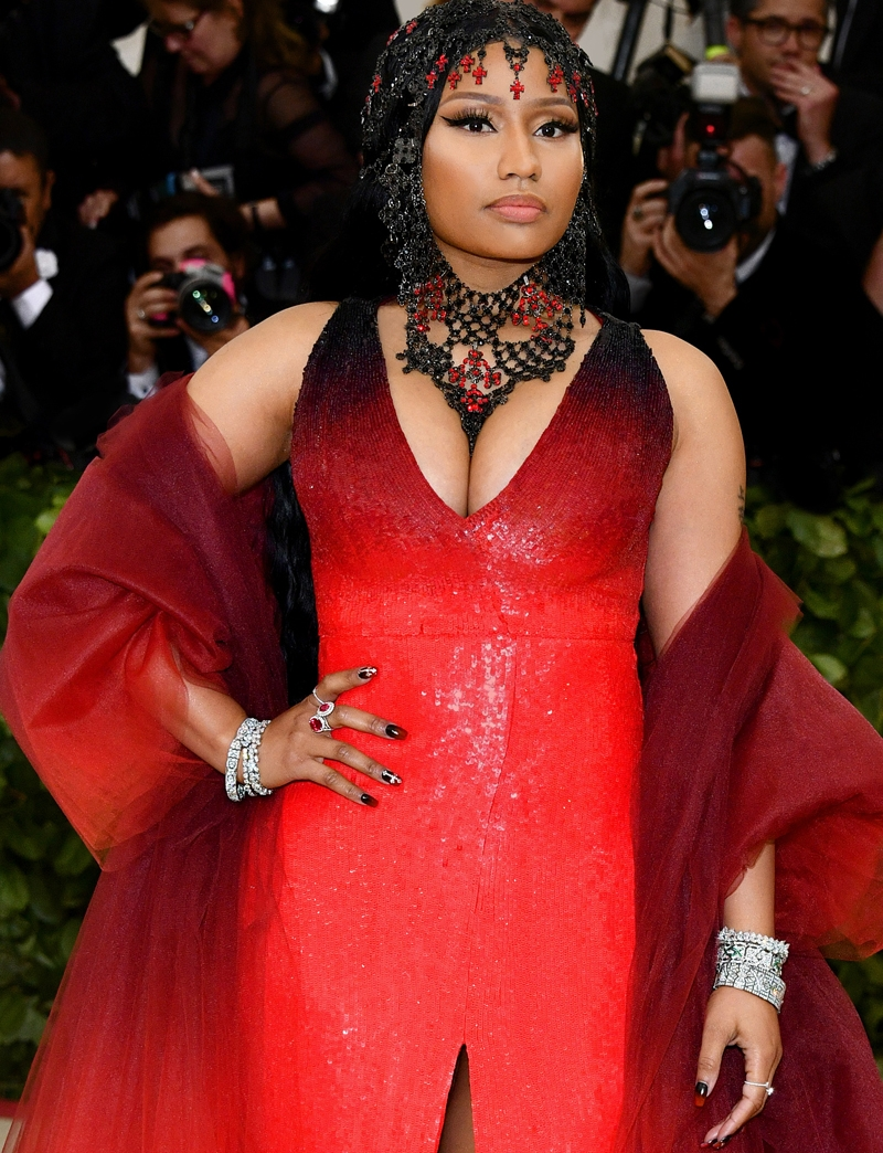 Nicky Minaj, Met Heavenly Bodies, Met Gala, Tiffany & Co. Tiffany Paper Flowers collection, Perfect Wedding Magazine, Perfect Wedding Blog,
