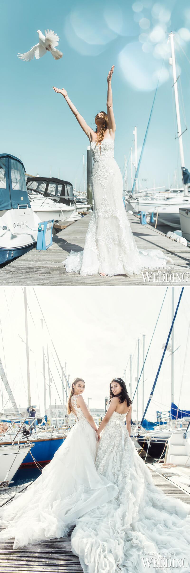 Summer Wedding Gowns, Wedding by the Sea, Bridal style Shoot, Fashion Shoot, UK Wedding Vendors, Perfect Wedding Magazine, Perfect Wedding Blog, Bridal Fashion, Ian Stuart,