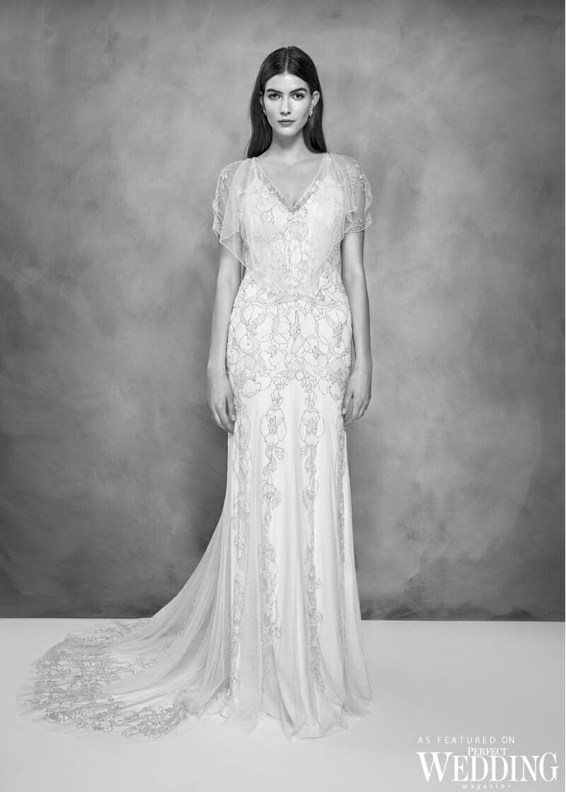 Jenny Packham, Jenny Packham Bridal, Jenny Packham 30th Anniversary Bridal Collection, Jenny Packham Azalea Gown, Perfect Weddiing Magazine, Perfect Wedding Blog, Bride, Summer Wedding Gowns, British Fashion Designer, UK Bride
