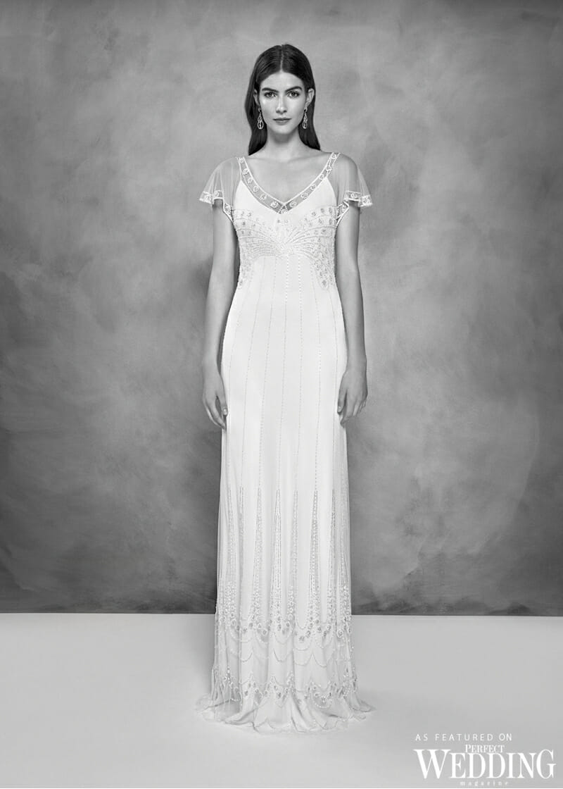 Jenny Packham, Jenny Packham Bridal, Jenny Packham 30th Anniversary Bridal Collection, Jenny Packham Claire Gown, Perfect Weddiing Magazine, Perfect Wedding Blog, Bride, Summer Wedding Gowns, British Fashion Designer, UK Bride