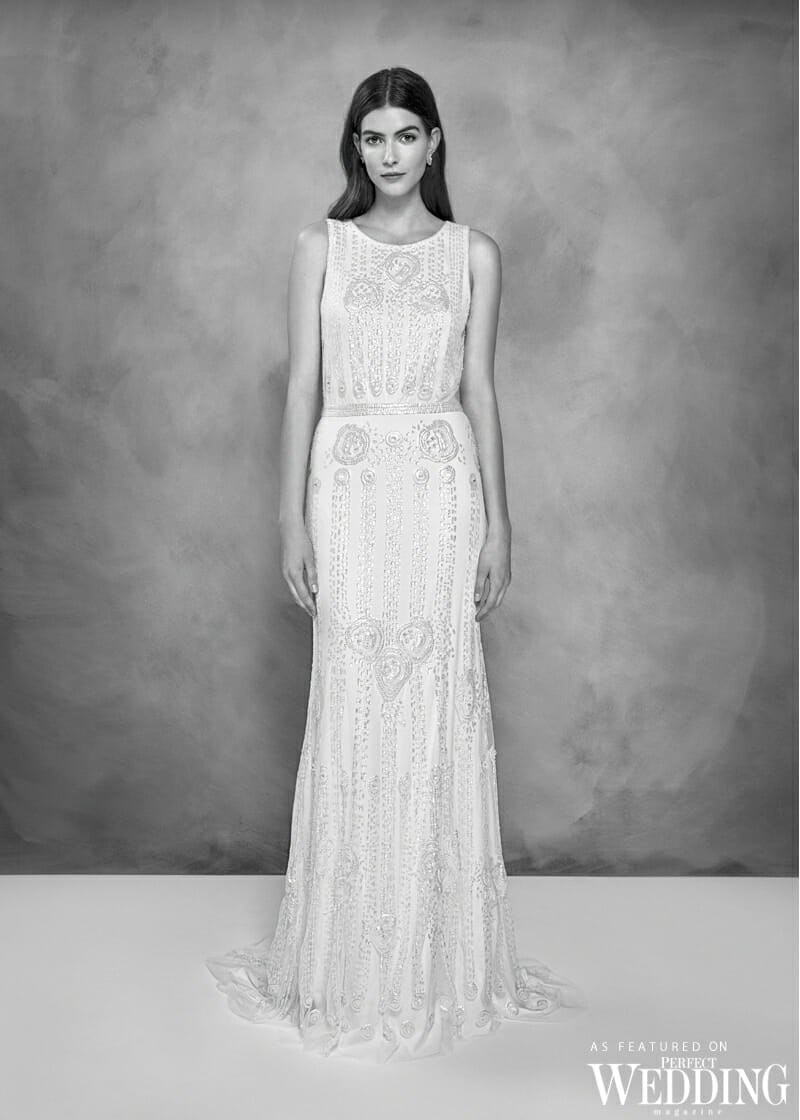 Jenny Packham, Jenny Packham Bridal, Jenny Packham 30th Anniversary Bridal Collection, Jenny Packham Joy Gown, Perfect Weddiing Magazine, Perfect Wedding Blog, Bride, Summer Wedding Gowns, British Fashion Designer, UK Bride
