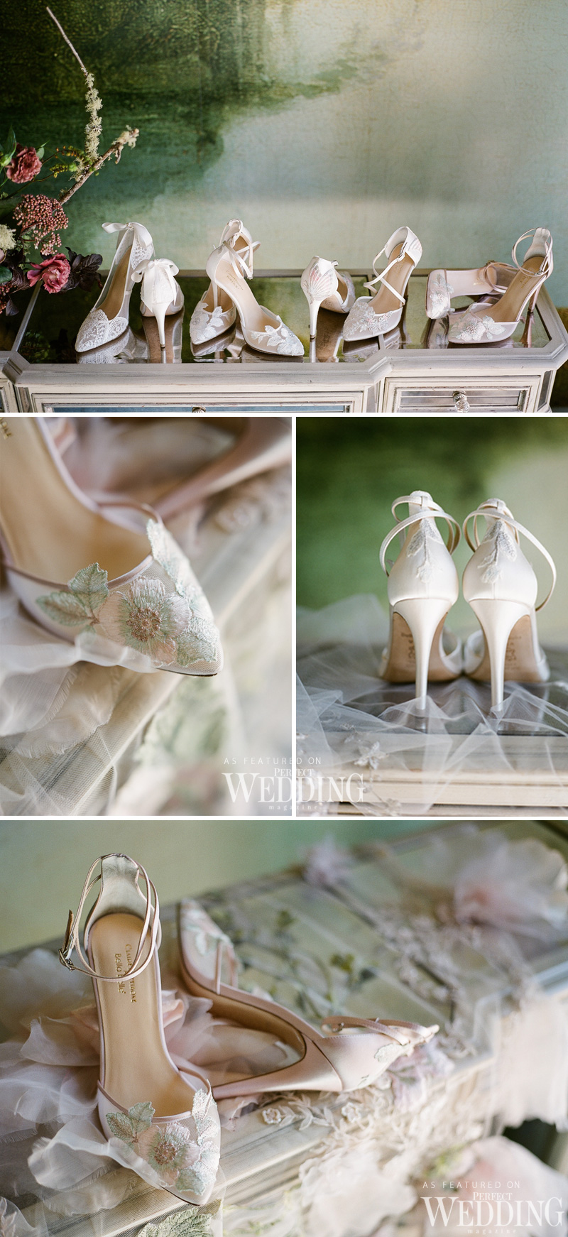 Claire Pettibone, Bella Belle Shoes, ClaireXBella, Bella Belle Bridal Shoes, Bridal Shoes, Wedding Heels, floral shoes, bridal heels, perfect wedding magazine, perfect wedding blog, bridal fashion, wedding 2018