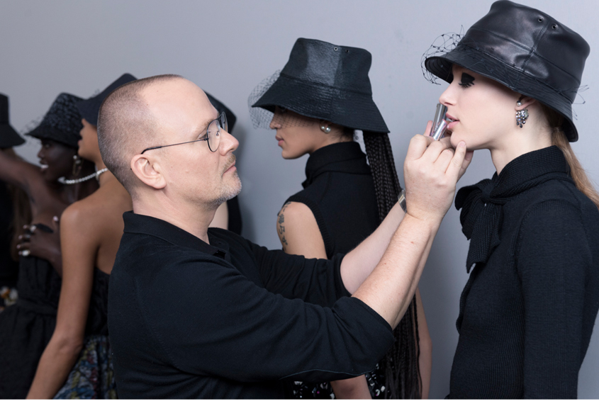 Dior Autumn-Winter 2019-2020 Ready-to-Wear show backstage, Dior Makeup, Peter Philips, Dior Show, Paris Fashion Week, Paris, Fashion, Dior, Teddy Girls, Makeup Trends, Beauty, Perfect Wedding Magazine, Perfect Wedding Blog, Maria Grazia Chiuri
