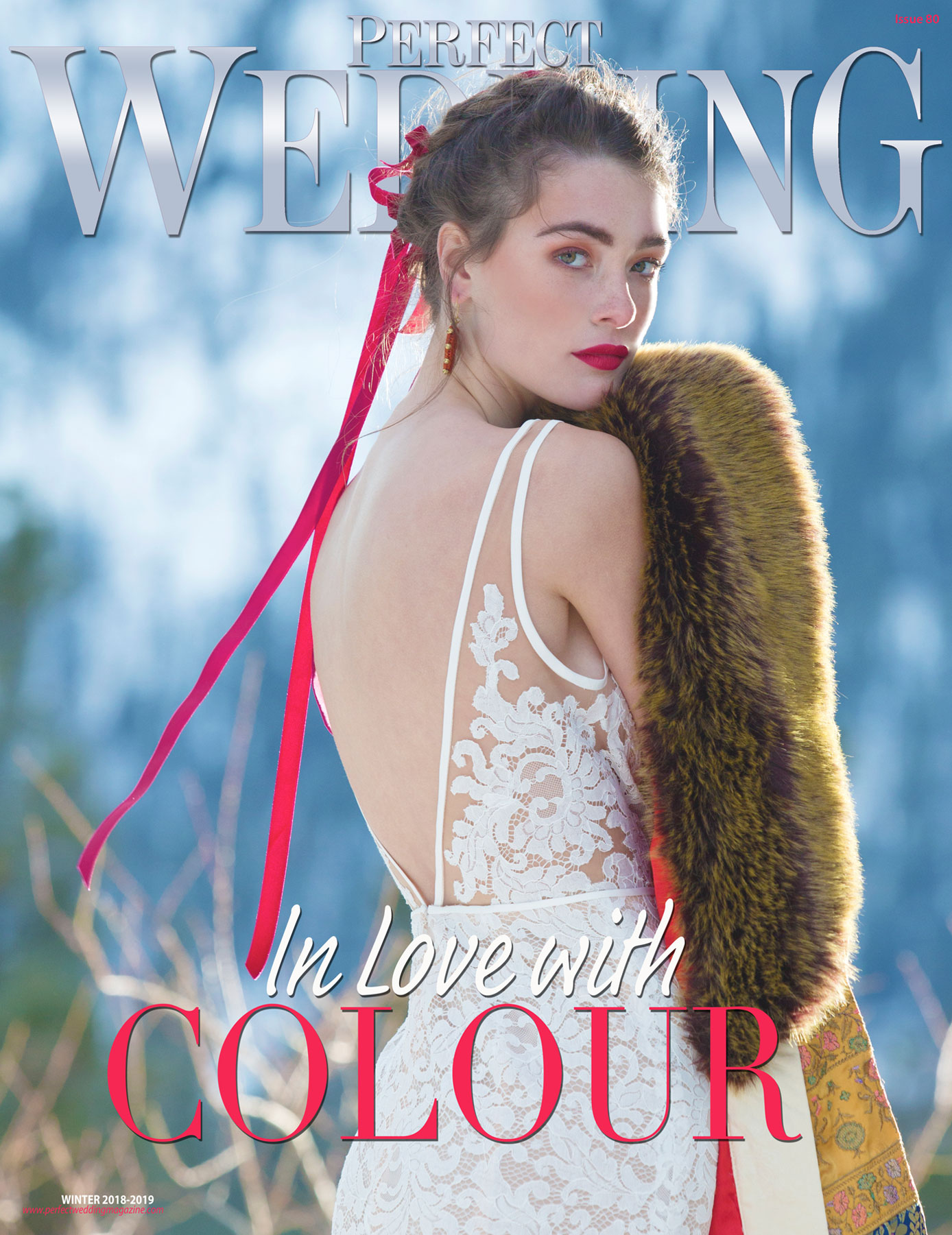 Perfect Wedding Magazine Cover In Love with Colour