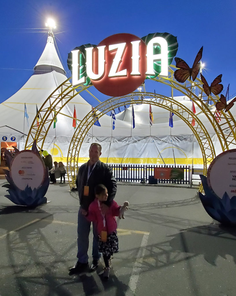 Outside the BigTop at the LUZIA Cirque Du Soleil performance