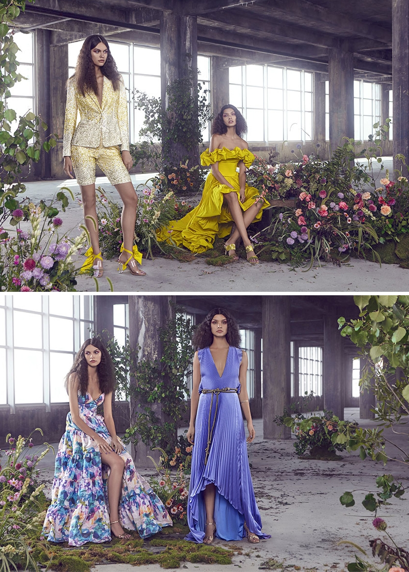 Floretal Spring 2020 collection is presented in a bright colour palette of blues, red, yellows and purple Perfect Wedding Magazine