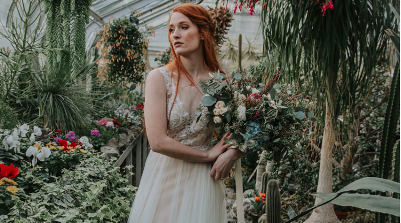 Last frost bridal style shoot in a green house Perfect Wedding Magazine