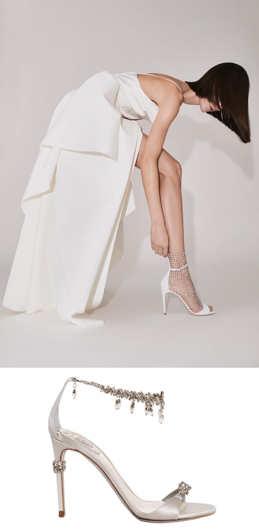 René Caovilla's 2020 bridal collection includes sandals, décolletés and sling-backs with luxurious motifs