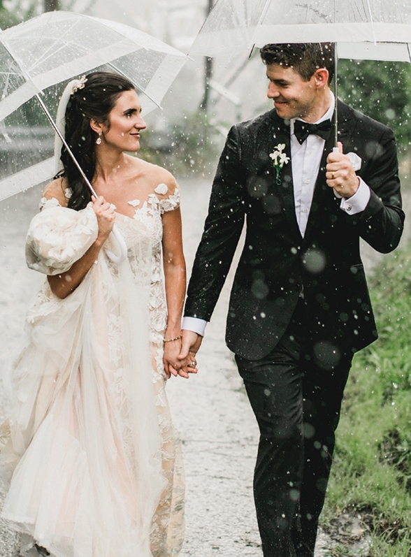 Surmesur bit of rain custom tux Perfect Wedding Magazine