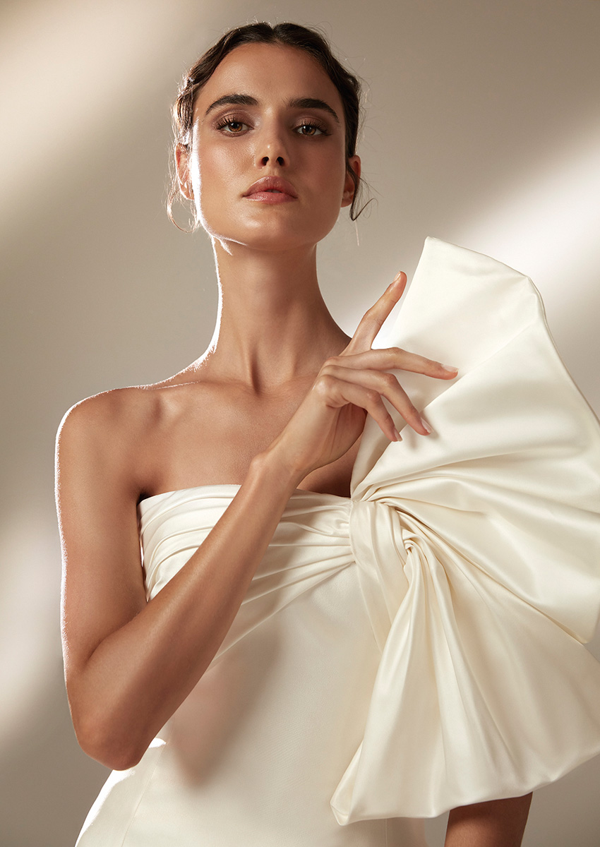 Top Model Blanca Padilla in a Mikado Atelier Pronovias 2021 Wedding Dress Perfect Wedding Magazine
