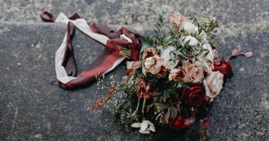 Marsala wedding colour theme in Perfect Wedding Magazine