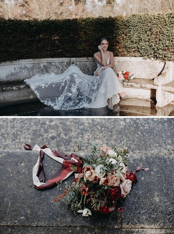 Marsala wedding colour theme in Perfect Wedding Magazine