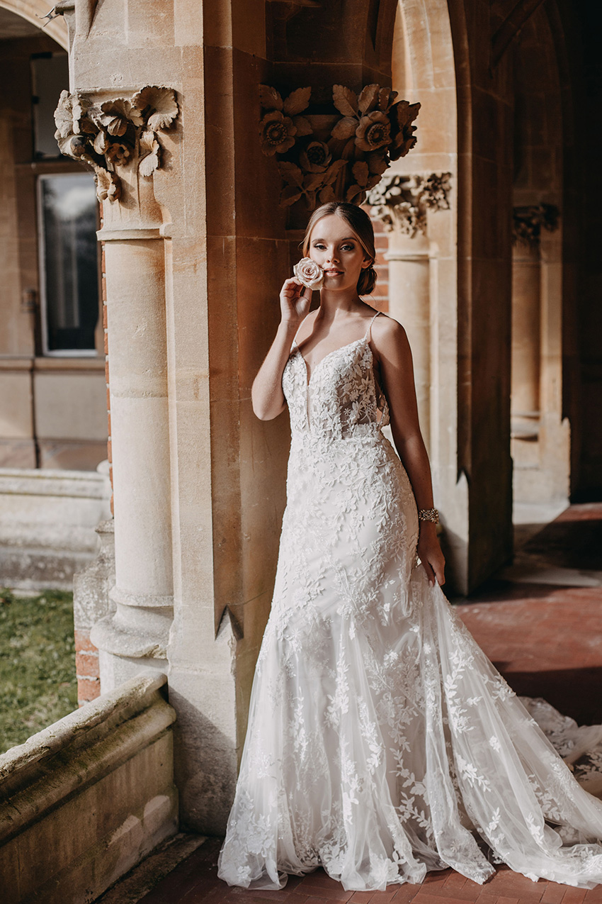 effortless ethereal wedding gown Ora by Enzoani in Perfect Wedding Magazine